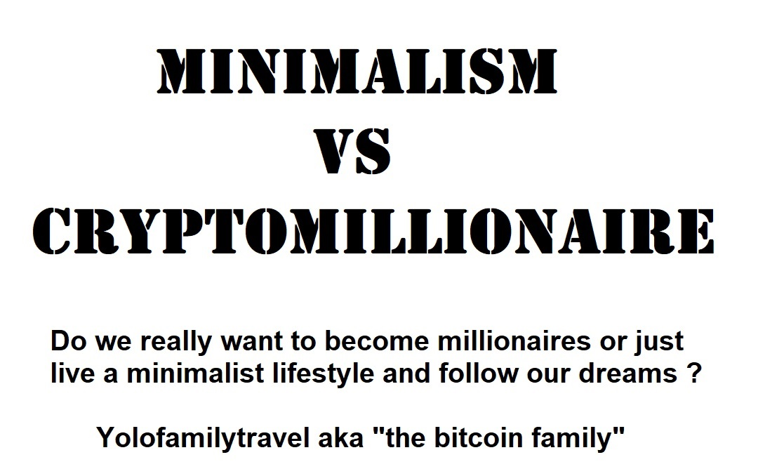 Update 3 Minimalism vs becoming crypto millionaire ??