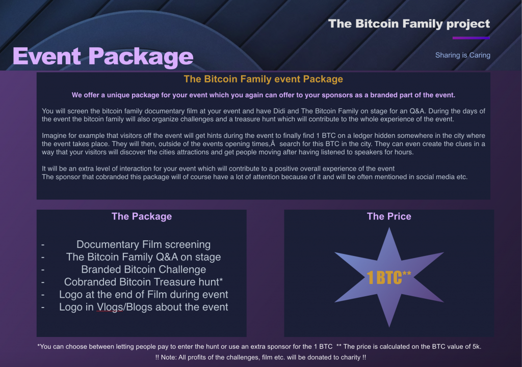 The Bitcoin Family event package