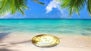 Bitcoin chat on the beach