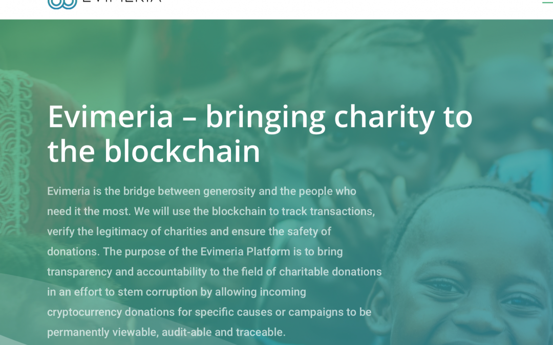 Evimeria – making charity more transparent through the blockchain